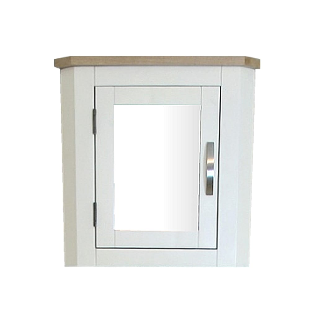 White wall mounted corner bathroom cabinet 601p - Wall mounted bathroom cabinets white ...