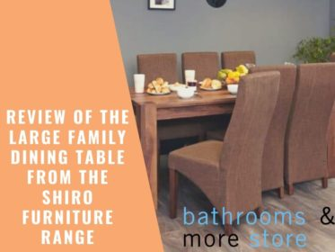 Review of the Large Family Dining Table from the Shiro Furniture Range